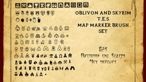 Oblivion and Skyrim Map Marker Brush Set