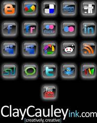 Black Square Social Media Icon