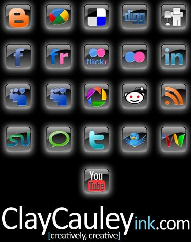 Black Square Social Media Icon by claycauleyinc