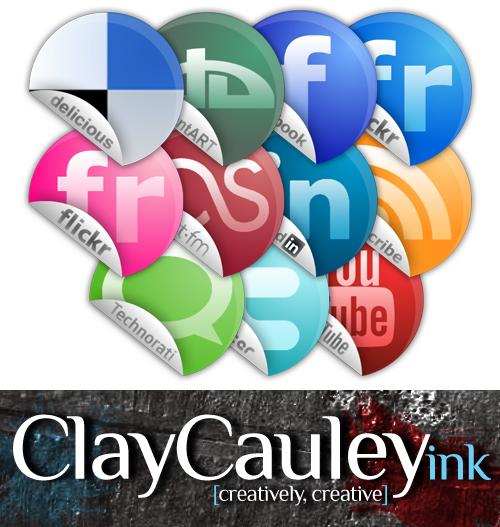 Sticker Style Social Media by claycauleyinc