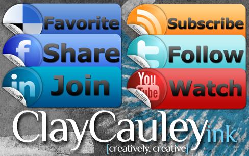 Sticky Tab Social Media Icons by claycauleyinc