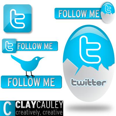 5 Sweet Tweet Vectors by claycauleyinc