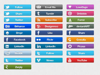 Social Icon Bars by claycauleyinc