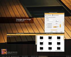 Orange door hinge by lassekongo83