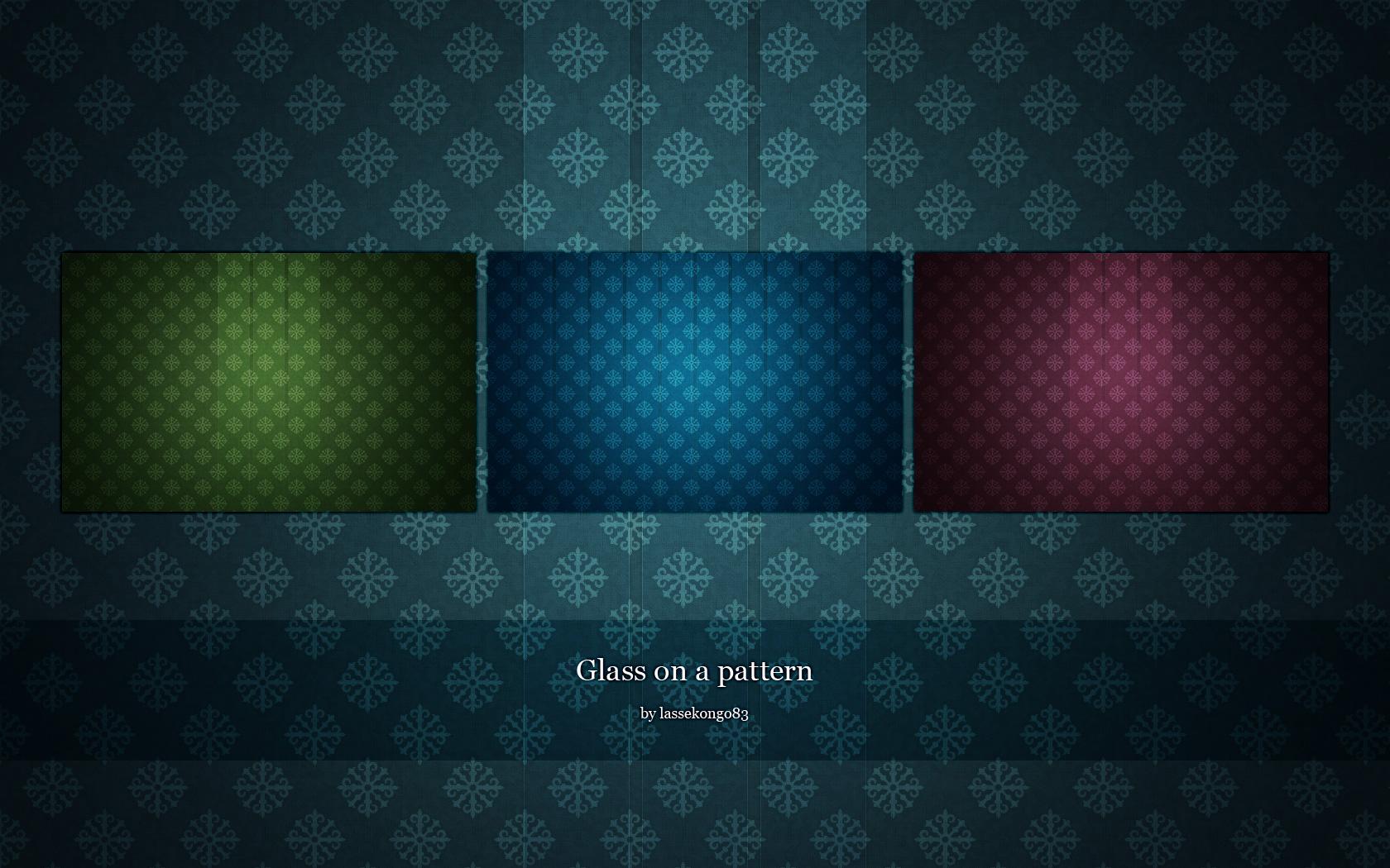 Glass on a pattern by lassekongo83