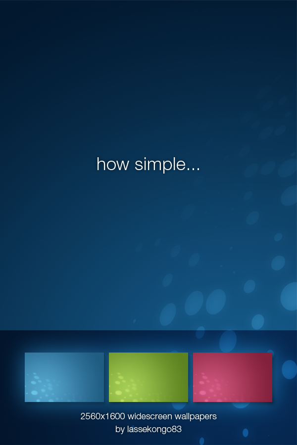 How simple...