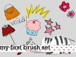 my first brush set