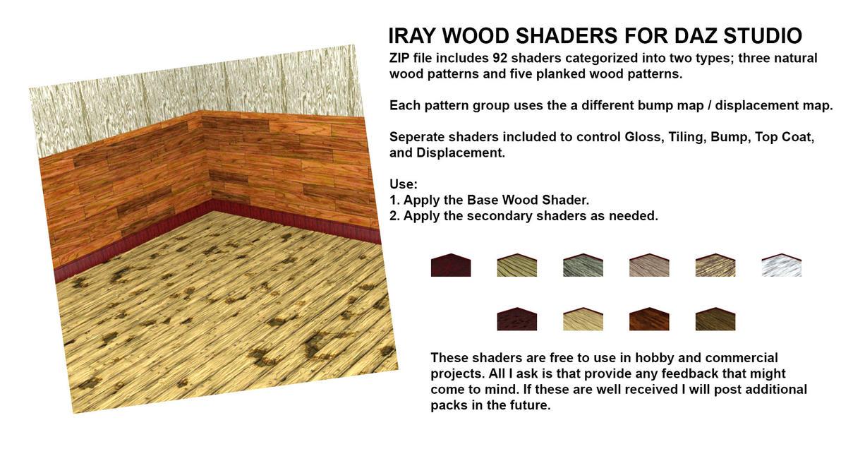 IRAY Wood Shaders (v2) by JasonGalterio