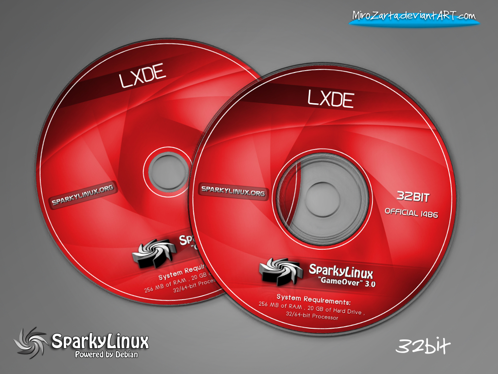 SparkyLinux 3 0 GameOver-LXDE-Labels by MiroZarta on DeviantArt