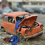 Car wreck focus change effect