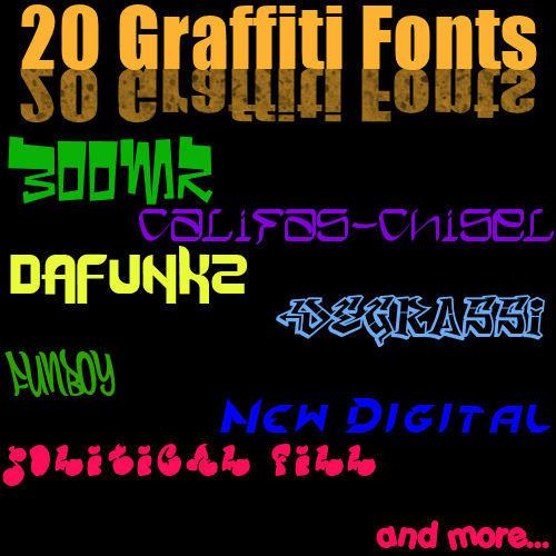 Graffiti Fonts by Gibmee