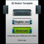 3D Buttons Template PSD
