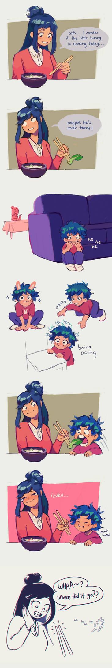 little bunny izuku comic