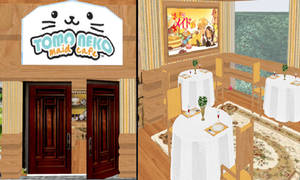 MMD Maid Cafe stage download