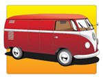 Red VW type 2 by CyberNeoAkira
