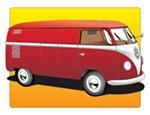 Red VW type 2 by CyberNeoAkira