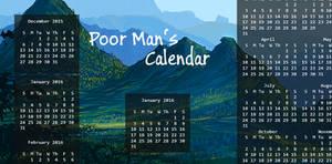 Poor Man's Calendar