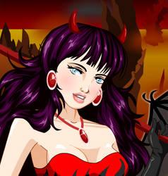 Dress up Lady Devil