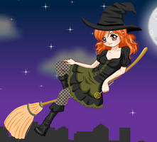 Little Halloween Witch dressup by heglys