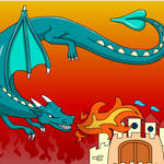 Castle and Dragon ColoringGame