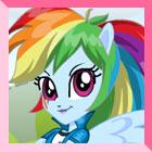 Equestria Girls Rainbowdash Dress Up by heglys