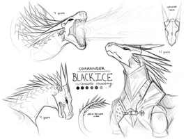 Here Comes the General- BlackIce Sketch Page by allyval