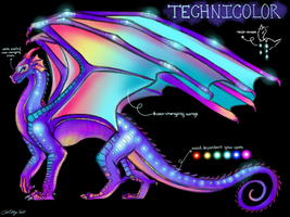 Technicolor: Neon Rainwing Adopt! (status: CLOSED) by allyval