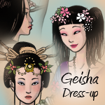 Geisha Dress-up Game by AzaleasDolls