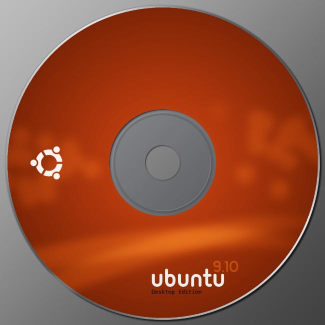 Ubuntu Karmic CD label by 0rAX0