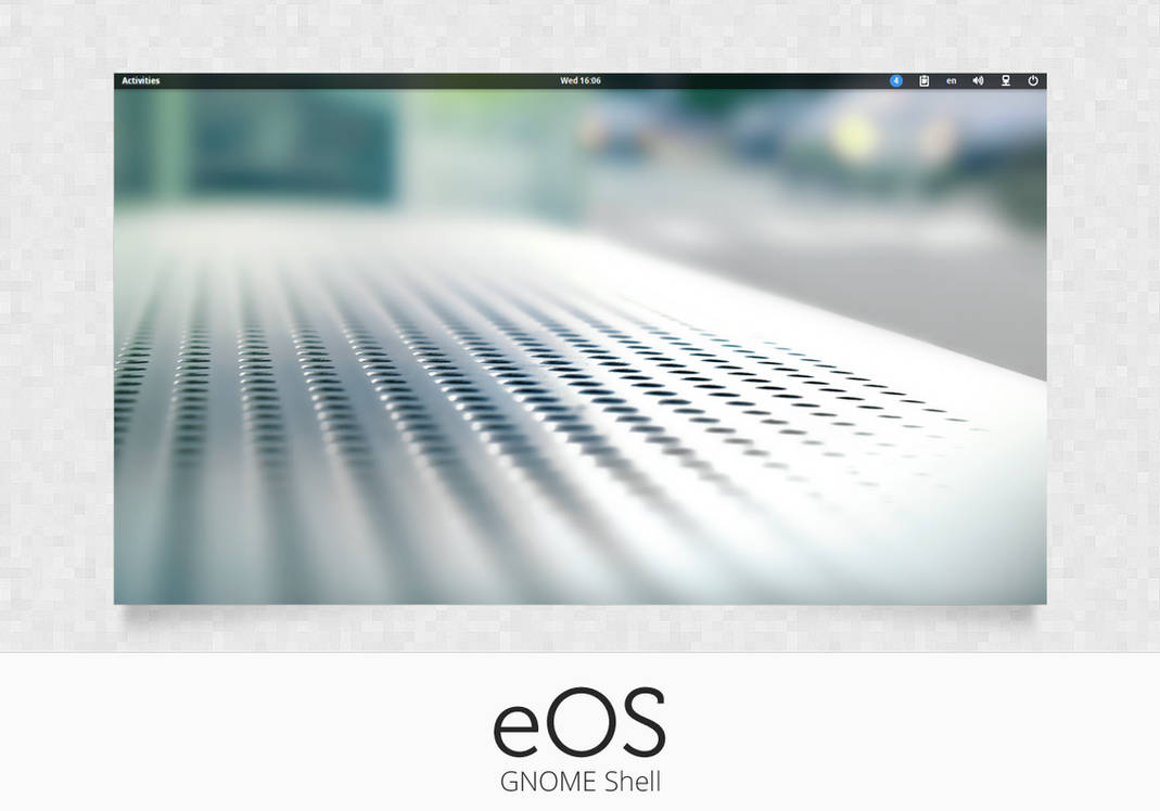 GNOME Shell: eOS by 0rAX0