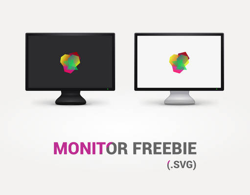 FREE Monitor template (.SVG)