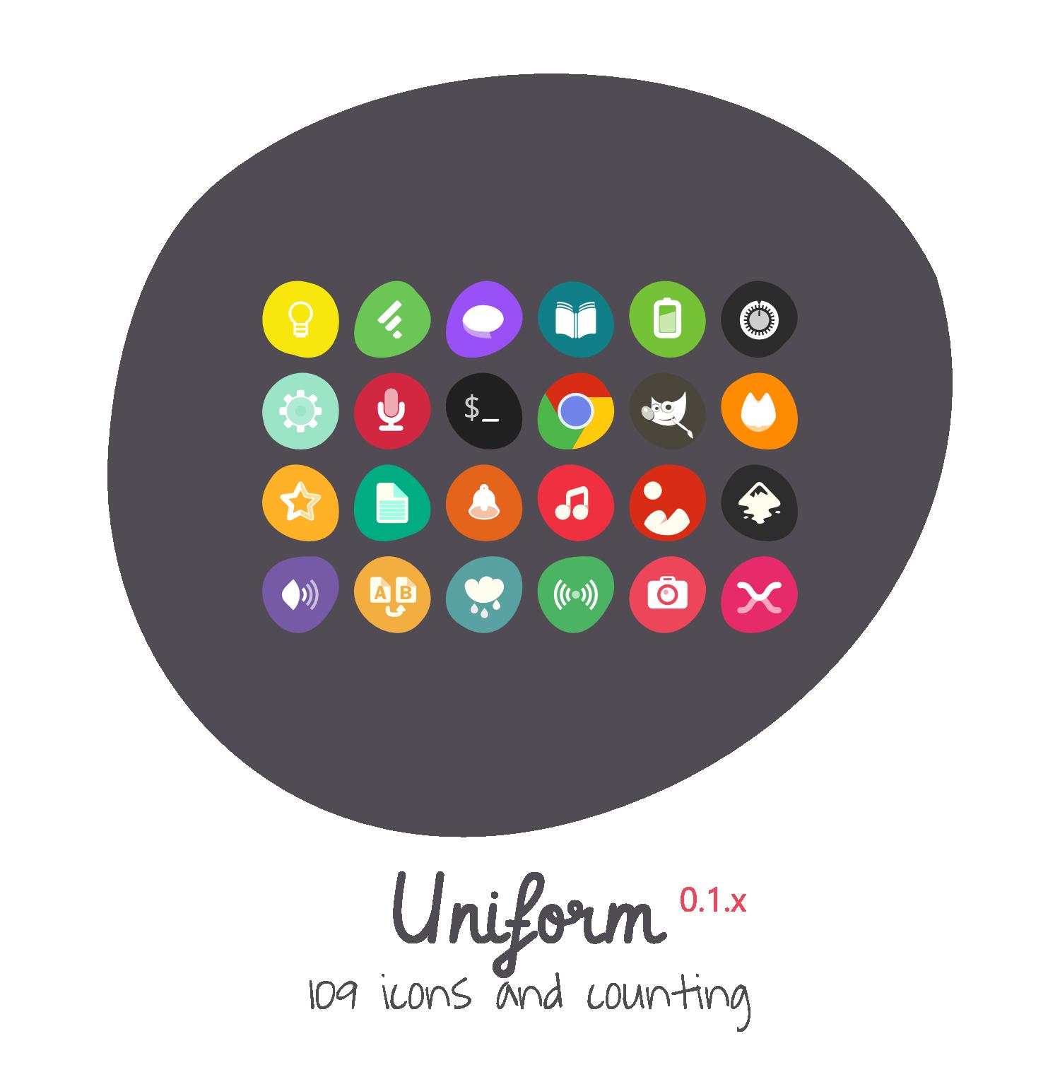 Uniform Icon Theme by 0rAX0