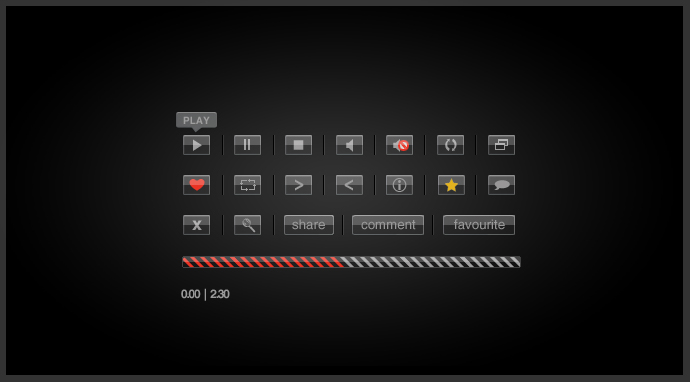 Glass Video Playback Buttons by birofunk