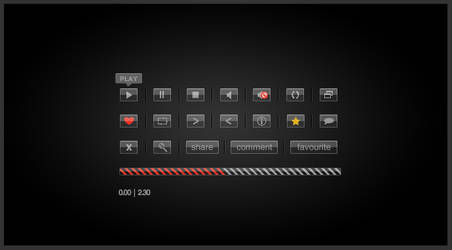 Glass Video Playback Buttons