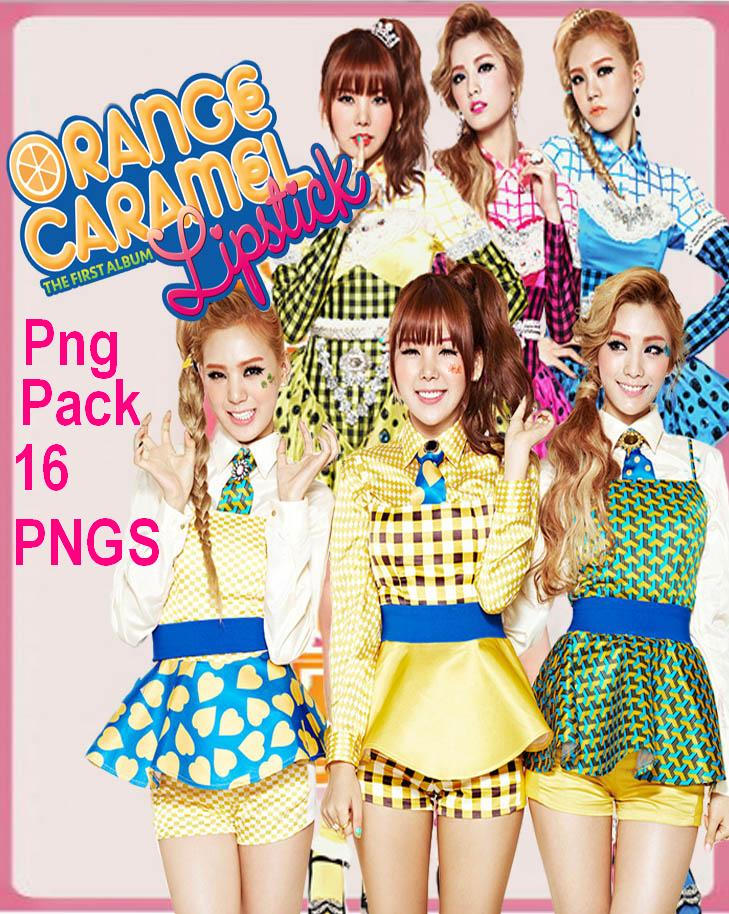 Orange Caramel pack png [renders] by Sellscarol