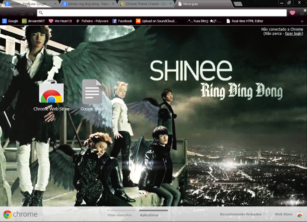 SHINee Chrome Theme by Sellscarol on DeviantArt