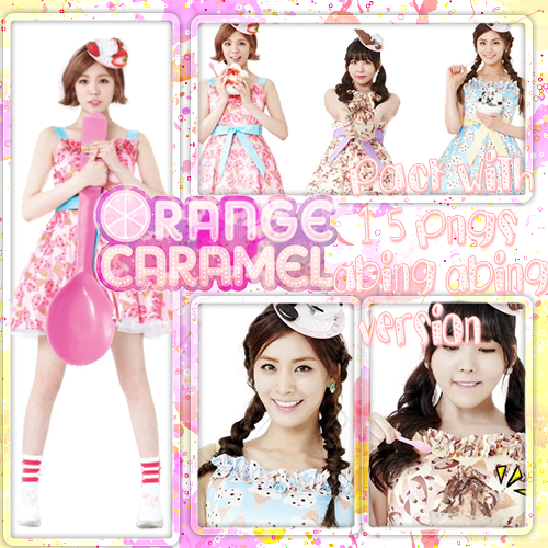 ORANGE CARAMEL PACK WITH 15 PNGS (ABING ABING) by Sellscarol