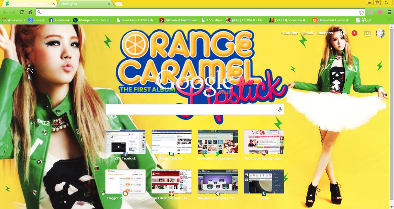 Google themes korean -  Lizzy Orange Caramel Chrome Theme By Sellscarol