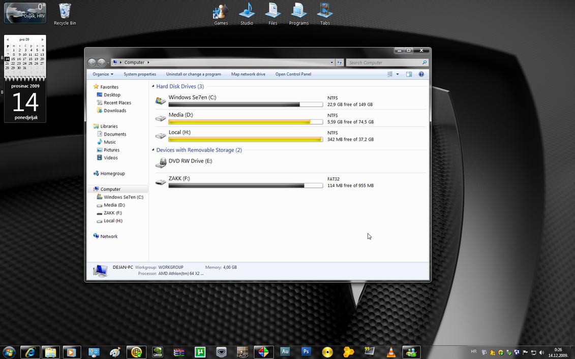 Black Se7en for Windows 7 by dejanibanez