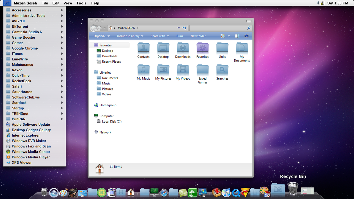 Snow leopard theme for windows 7.