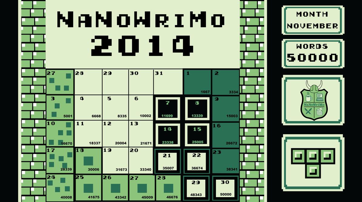 NaNoWriMo- November 2014 Tetris Theme by Phantasm09