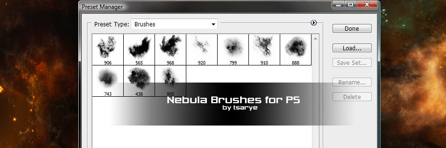 Resource Pack 4 Nebula Brushes