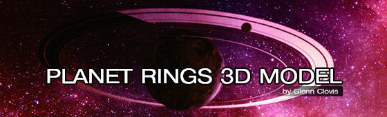 Planet Rings 3D Model by GlennClovis