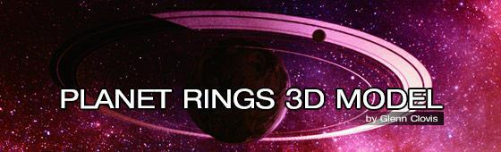 Planet Rings 3D Model by GlennClovis