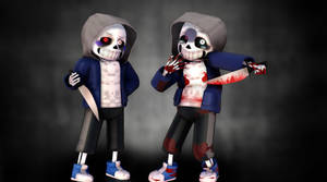 MMD |Dusttale Sans| UPDATED MODEL (+DL)