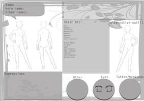 Character template female by hoshi-kou