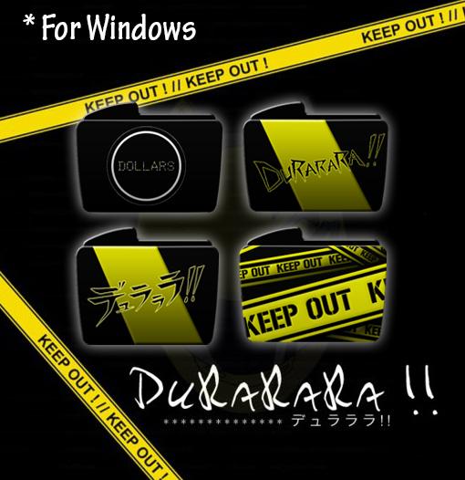 Drrr!! folder icons - WINDOWS by Machus-san