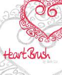 heart brush.