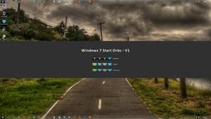 Windows 7 Start Orbs - V1 by dreadfuldark