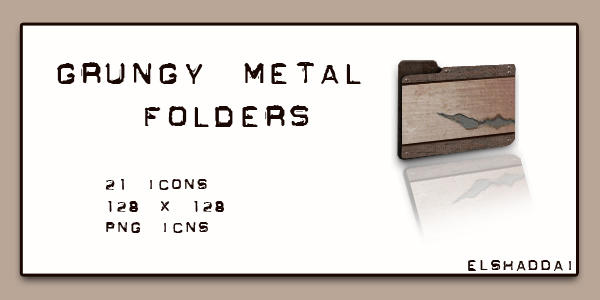 Grungy Metal Folders by elshaddai